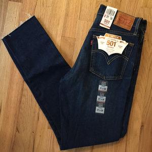 New Levi's 501 skinny stretch jeans
